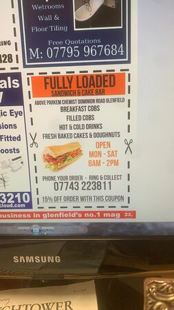 Special offer coupon advertised in glenfields local advert booklet