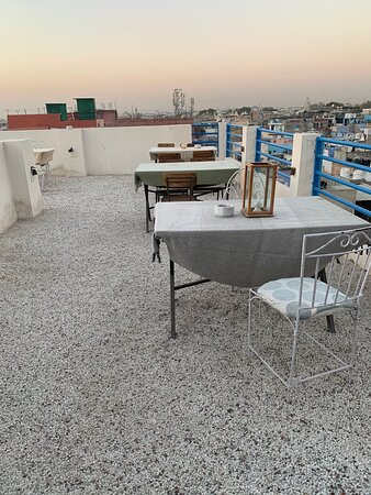Second rooftop has white pebbles all over - looked very good. Walls have lights and charging sockets.