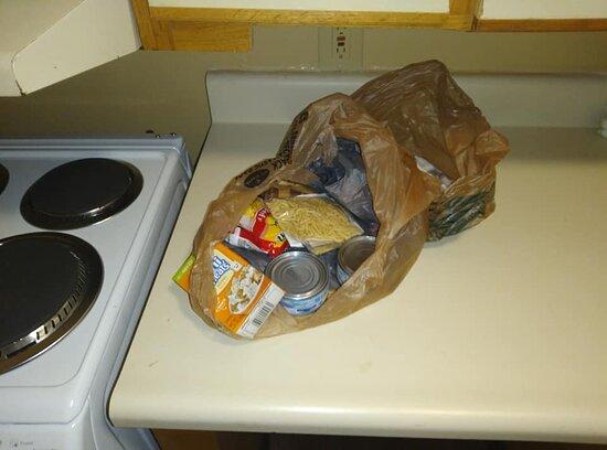 Bag of food left behind