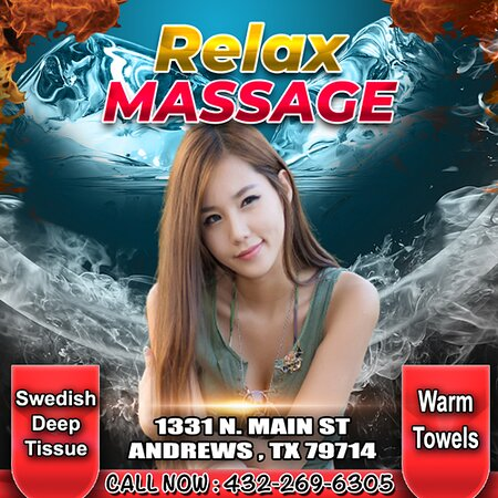 Relax Massage is an Asian massage spa designed to help you reduce stress, relieve build up chronic pain, and increase the overall quality of your life! We specialize in multiple affordable, customized treatments to meet the needs of a wide variety of clients in a peaceful setting! We are proud to be providing Authentic Asian Massage therapy services in our beloved community of Andrews, TX!