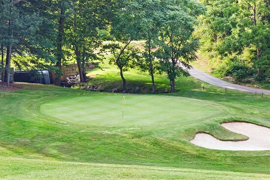 Stop by and play a few holes of golf at our scenic 9-hole course.