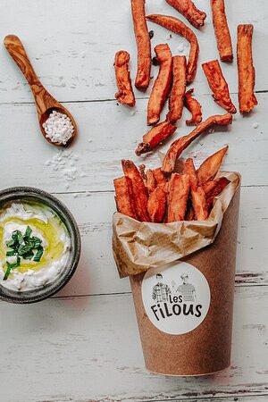 Filoutines douces (frites de patates douces maison)