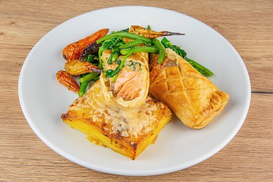 Salmon en croute –  available on special occasions such as Mother's Day and Easter