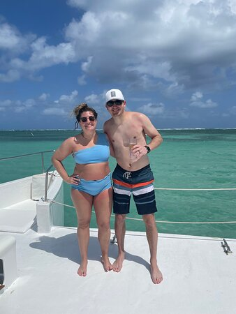 This was on the catamaran trip!