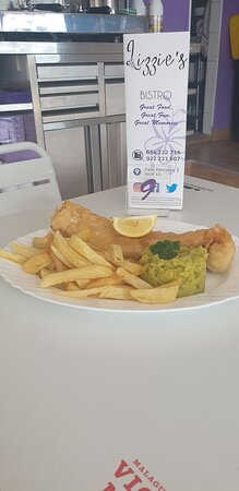 Fish Friday, homemade beer battered cod and homemade chips.