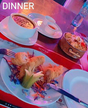 Amazing location, tasty food