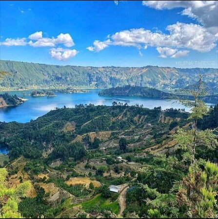 The beautiful Wenchi Crater Lake in Ambo. A stunning idea for a day trip or overnight stay from Addis. Organise your trip with us!