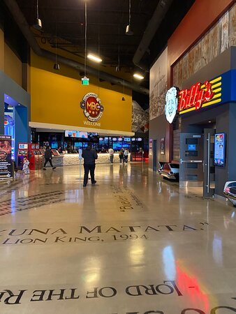 Entrance to the gaming area and theatre