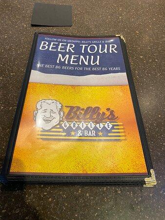 Full beer menu