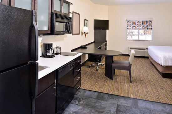 Each studio room comes with a kitchen area.