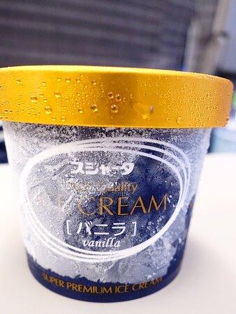 車内販売のスジャータアイスクリームバニラ