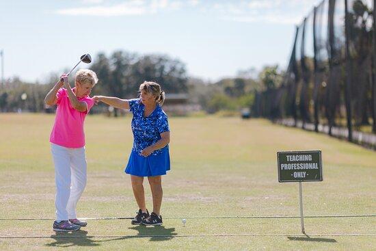 Charlaine Tatz, PGA Teaching Professional. Go to http://www.golfstpete.com/instruction/ for information on golf lessons.