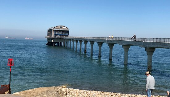 Nice perspective view of Bembridge Lifeboat Station on a beautiful day on the Isle Of Wight