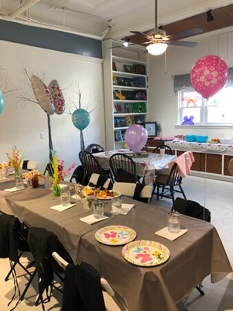 Great place for Birthday celebrations- private pARTy room is free to use, just call or text us to reserve it