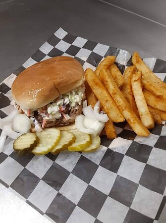 Carolina Sandwich and French fries