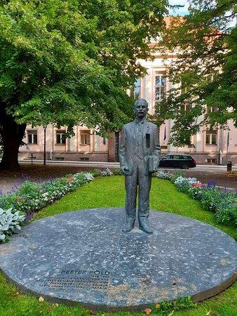 Tartu, Estonia: Monument to Peeter Põld Photo: M. Lokko