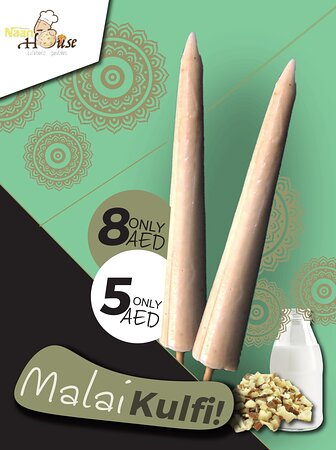 We provide the authentic taste of the homeland! Try our desi malai kulfi made from khoya!
