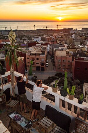 Ocean view from our rooftop - Pro Surf Morocco - Surf & yoga camp