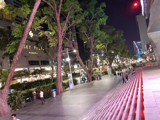UNA BELLISSIMA SERATA LUNGO LA LUSSUOSA ORCHARD ROAD A SINGAPORE -FOTO MAURO PORTO TORRES-FEBBRAIO-APRILE 2020