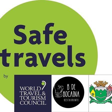 Selo Safe travels , mais uma conquista 🙌🏻❤️🍃✨