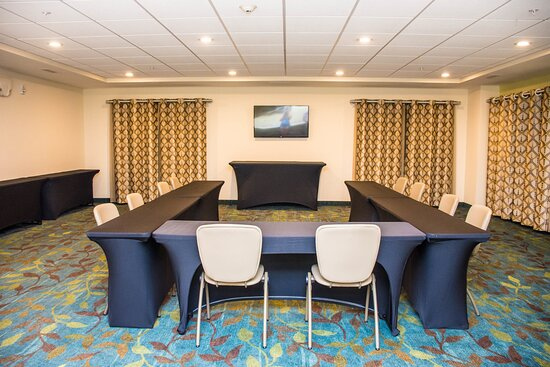 Our presentation set up in the Blue Valley Room