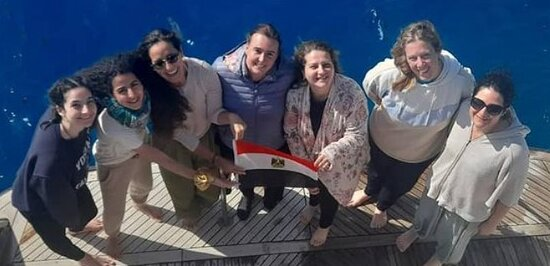 Hurghada, Egypt: On the boat, only girls :-)