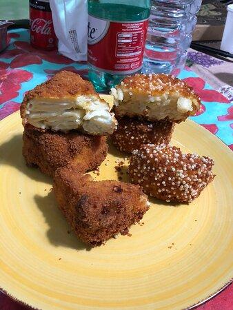 Frittatina 4 formaggi e pasta e patate