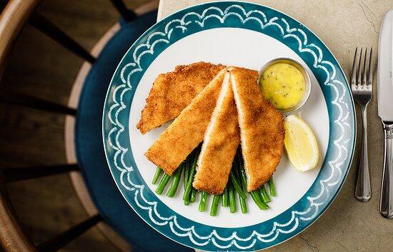 Our favourite chicken schnitzel