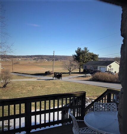 Narvon, PA: View from the kitchen and deck area