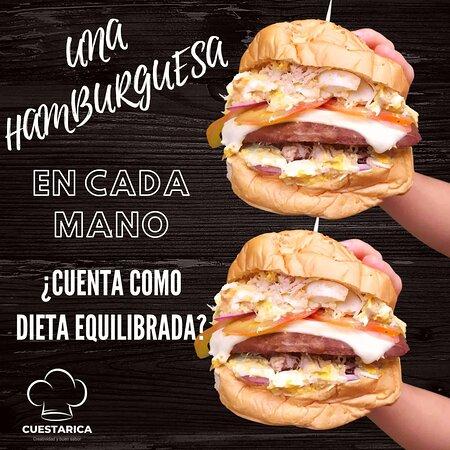 ¿Cierto que llevar una hamburguesa 🍔 en cada mano, 🙌🏻 cuenta como dieta equilibrada? 🍟 😄 🍔 😅