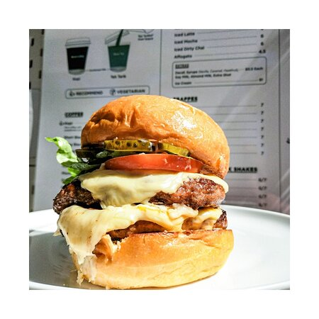 Angus Beef Burger with double patty