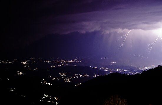 Ranikhet, India: We were lucky to capture a thunderstorm...
