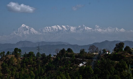 Ranikhet, India: The Beautiful Himalayan range as seen from the terrace as well as from your rooms...