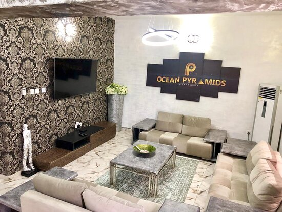 It's an air bnb apartment available for travellers in lekki,lagos Nigeria,available for bookings on +2348077645946