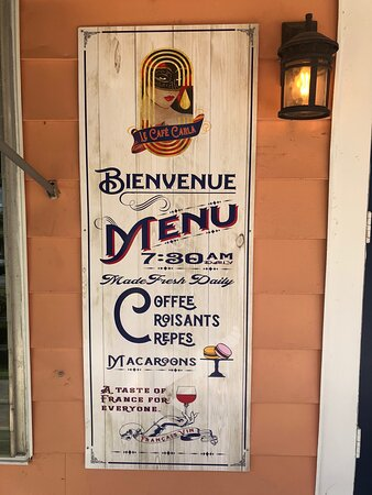 Cute place with French charm and peaceful ambiance. And very tasty deserts!