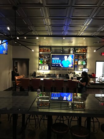 Upper bar and dining area