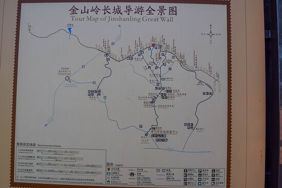 Group Great Wall Hiking Tour from Jinshanling to Simatai West: map of the area