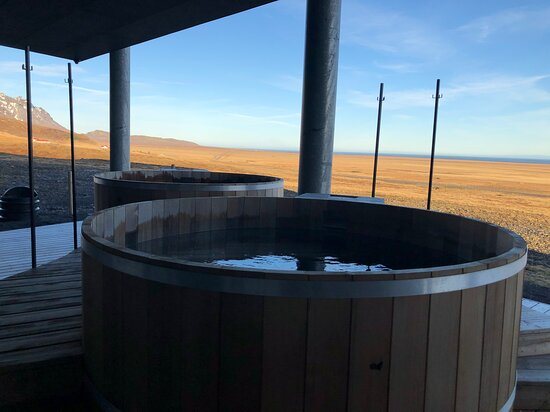 Public hot tubs, which were not functional.