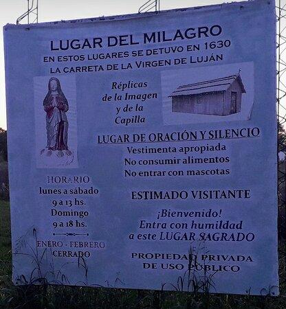 Zelaya, ארגנטינה: Cartel informativo en la entrada.