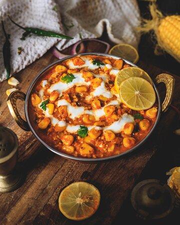 CORN LABABDAR  Mais mir Paprika und Reiche und cremige Curry