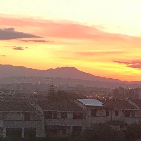 Cagliari tramonto del 14/3/21 ripreso da casa