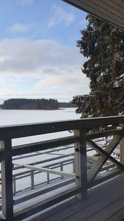 Silene, Letonia: Вид из номер Дэ люкс. было прохладно в номере....