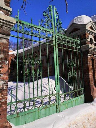 Очередные ворота больничного комплекса (хорошо сохранилась кованина!!!).