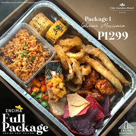 Encima Full Package Promo Salmon Mexicana  Available daily at Encima Roofdeck Restaurant!