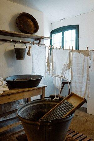 Vaskerummet fra 1872 på Danmarks Forsorgsmuseum Svendborg