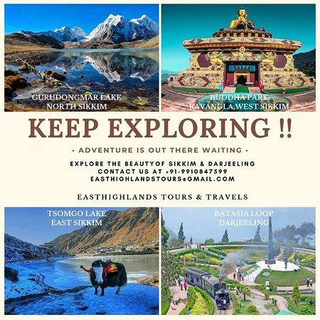 Sikkim, الهند: KEEP EXPLORING  VISIT SIKKIM & DARJEELING  for more details Call us +91-9910847599 email : easthighlandstours@gmail.com