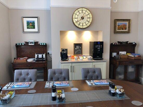 Enjoy breakfast in the light & airy dining room