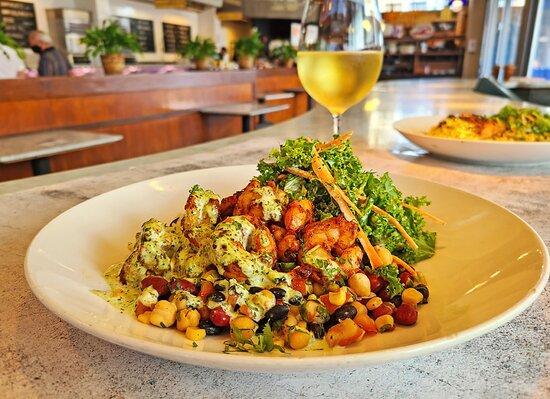 Cajun Shrimp Bowl inside the Cafe
