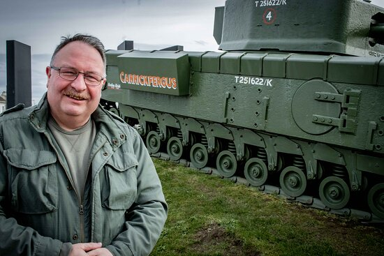 Discover this Churchill tank's connection with Carrickfergus on my Tour.