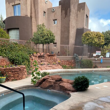 Beautiful hot tub and pool
